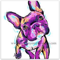 French Bulldog van CartoonYourMemories op Etsy