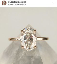 Oval solitaire #RoseGold