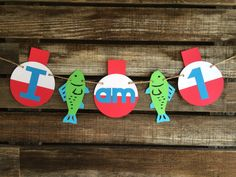 Fishing Party High Chair Banner - First Birthday, Fish Party, Fishing Birthday, Under the Sea by BlueOakCreations on Etsy https://www.etsy.com/listing/269271742/fishing-party-high-chair-banner-first