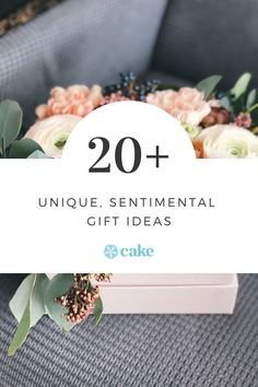 These 20 sentimental gift ideas remind your recipient that you're thinking of them. While expensive gifts are nice, so are sentimental gifts that show you truly get someone and understand what matters to them. #GiftIdeas #SentimentalGifts #CheapGiftIdeas #UniqueGifts