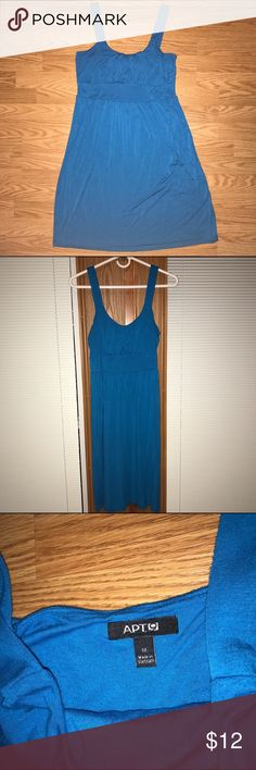 Sleeveless Dress Apt. 9 blue sleeveless dress.  Knee length, flowy.  Pairs well with a cardigan and statement necklace. Good condition, gently worn. Apt. 9 Dresses Midi