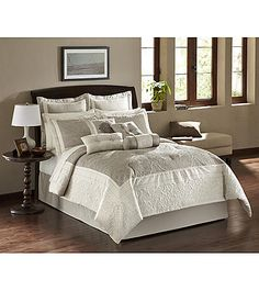 Cassandra Grey 10-pc. Comforter Set by LivingQuarters | Younkers