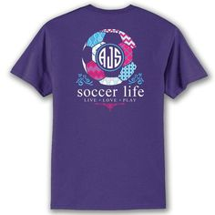 Soccer Life Custom Monogram T-Shirt
