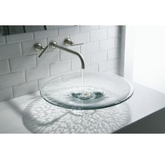 Artist Editions Lavinia Glass X Vessel Bathroom Sink