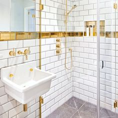 Check out our shower room ideas and design inspiration, whether you have want a gorgeous country shower room or a stunning attic shower room Marble Bathroom Accessories, Gold Bathroom, Modern Bathroom, Small Bathroom, Downstairs Bathroom, Wet Rooms, Lavabo Vintage, Attic Shower, Shower Rooms