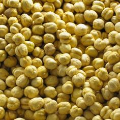 Roasted chick peas (yellow)  Chick peas are cooked chickpeas! They are legumes, an eating bomb for our organization!