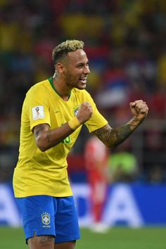 c425f650596 Brazil s forward Neymar celebrates at the end of the Russia 2018 World Cup  Group E football