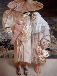 """Four Season - Winter  Lui Liu  oil on canvas, 48"""" X 36"""", 2000"""
