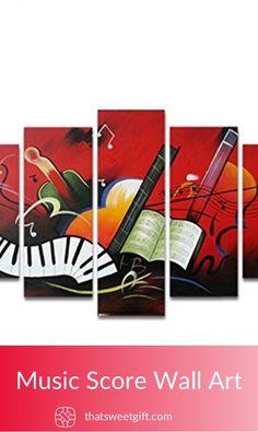 Music Score Wall Art #thatsweetgift