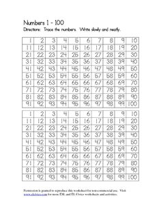 Numbers 1-100 Worksheet | Lesson Planet
