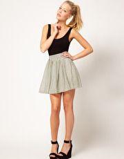 Glamorous Checked Skater Skirt