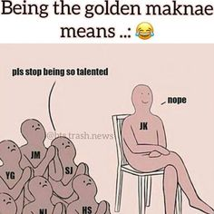 This is a lie. The dude representing Jimin is taller than the others. My answer: or maybe jimin is standing up an the other members are kneeling. Kookie Bts, Bts Bangtan Boy, Bts Jungkook, Seokjin, Hoseok, Namjoon, Taehyung, K Pop, Army Memes