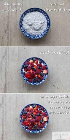 The absolute BEST breakfast or snack - Chia Superfood Bowl so good!!