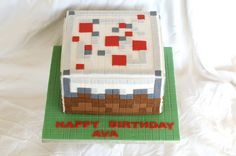 Minecraft Birthday Cake -handmade by Finespun Cakes & Pastries