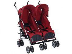 Carrinho de Bebê para Gêmeos Burigotto Duetto - Reclináveis 2 Posições para…