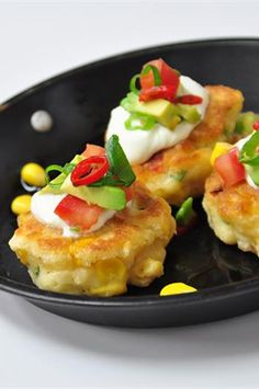 Corn Fritters with Guacamole Recipe #betterfromaBelling #Belling #BellingResults
