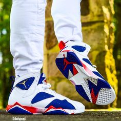 "Air Jordan 7 Retro Olympic ""Tinker Alternate"""