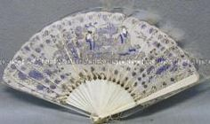 DHM, ivory, mother of pearl and feather painted fan 1801