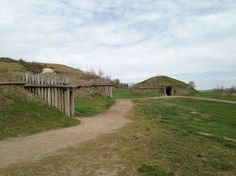 On-A-Slant-Village: Located in Abraham Lincoln State Park, close to Custer's house, is the village of the Mandan Indians. Come and learn about their interesting way of life.