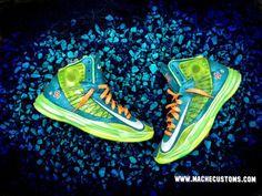 "Nike Lunar Hyperdunk 2012 ""Scooby Snacks / Mystery Machine"" by Mache Custom"