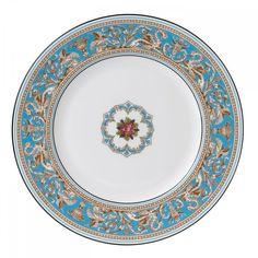 Florentine Turquoise Plate 27cm