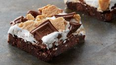 The classic combo of graham crackers, marshmallow and HERSHEY's® chocolate comes together in these easy s'mores made with Pillsbury™ Ready to Bake™ HERSHEY's® Chocolate Brownie Cookies.