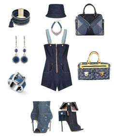 """""""Jeani out the Bottle"""" by dsyphe ❤ liked on Polyvore featuring Dsquared2, Natasha Zinko, Cara, Diesel, Nine West, BaubleBar, Louis Vuitton and Brooks Brothers"""