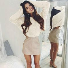 cute casual winter fashion outfits for teen girl 12 Winter Fashion Casual, Fall Winter Outfits, Autumn Fashion, Casual Winter, Cute Girl Outfits, Outfits For Teens, Casual Outfits, Work Outfits, Knit Fashion