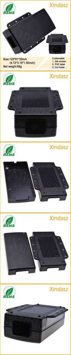 (KS-018 2pcs/Lot)120*81*38mm Black plastic enclosure junction box plastic box electronics