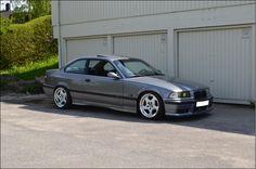 "Branitesilber BMW e36 sedan on OEM BMW Styling 21 (""M"" throwing star 8j ET20 & 9j ET22) wheels"