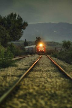 Photo The itinerary of by AdithetoS μελουργός on Train Pictures, Great Pictures, Cool Photos, Beautiful Pictures, Train Tracks, Railroad Tracks, Paths, Trail, Vacation