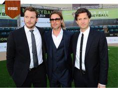 Versus: Brad Pitt, Chris Pratt, Bennett Miller - the guys of Moneyball go head-to-head in a style battle. #fashion
