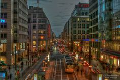 Berlin Friedrichstrasse. Early evening