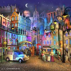 Edinburgh Town--by Keith Drury.