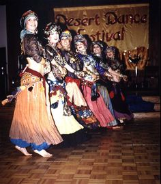 Fat Chance Belly Dance, 1994 - troupe pose inspiration