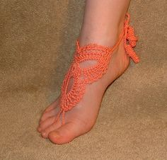 Iam going to have my mom make these. Crochet Barefoot Sandles