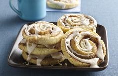 Easy Cinnamon Roll Cookies Recipe - Betty Crocker® cookie mix and Cinnabon decorating icing