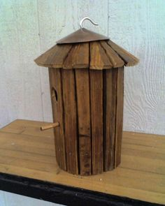Rustic Vintage Tobacco Stringing Stick Birdhouse by buddybenton