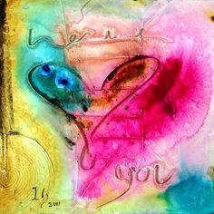 heart paintings