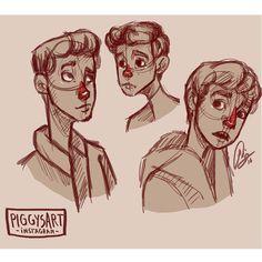 piggysart instagram facebook illustration drawing sketch boy