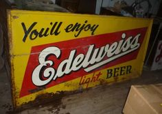 Edelweiss beer sign