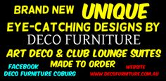 deco lounges made by  deco furniture  100 gaffney st coburg melbourne phone 03 93501699 facebook  deco furniture coburg website www.decofurniture.com.au www.facebook.com/DecoFurniture.com.au.