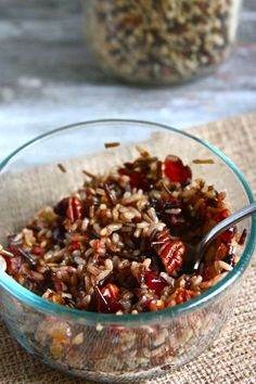 Wild Rice with Caramelized Shallots, Pecans and Cranberries