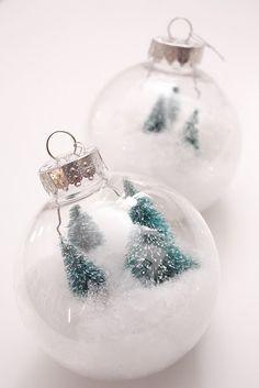 pretty snow globes