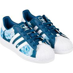 premium selection eef6b 6677f Adidas Superstar II W Floral Pack - Indigo Blue (654) Weiße Zehen, Adidas