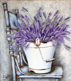 ourcraftaddictions lavender painting vintage diamond shabby rustic drills seller drill round chair chic full vintage US Seller Shabby Chic Lavender Vintage Chair Rustic Diamond Painting Kit Round DYou can find Lavender and more on our website Vintage Diy, Shabby Vintage, Shabby Chic Canvases, Stella Art, Lavender Crafts, Summer Painting, Vintage Flowers, Diy Art, Flower Art