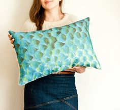 Scallop pillow nautical fish scale cushion in by toucheefeelee1