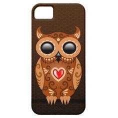 Cute Brown Sugar Owl iPhone 5 Covers