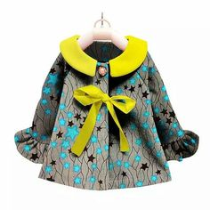 Patterned colourful kid girl coat. Different bright colors  Suitable for girls 8 years and above. Please see size chart