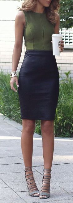 Classy skirt outfit – (Style Estate)